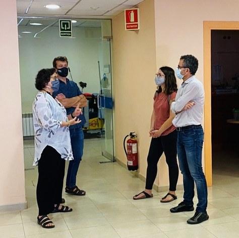 Regidors de l'Ajuntament de Terrassa visiten el CUV
